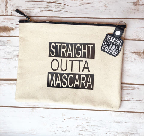 straight outta mascara - canvas zip bag