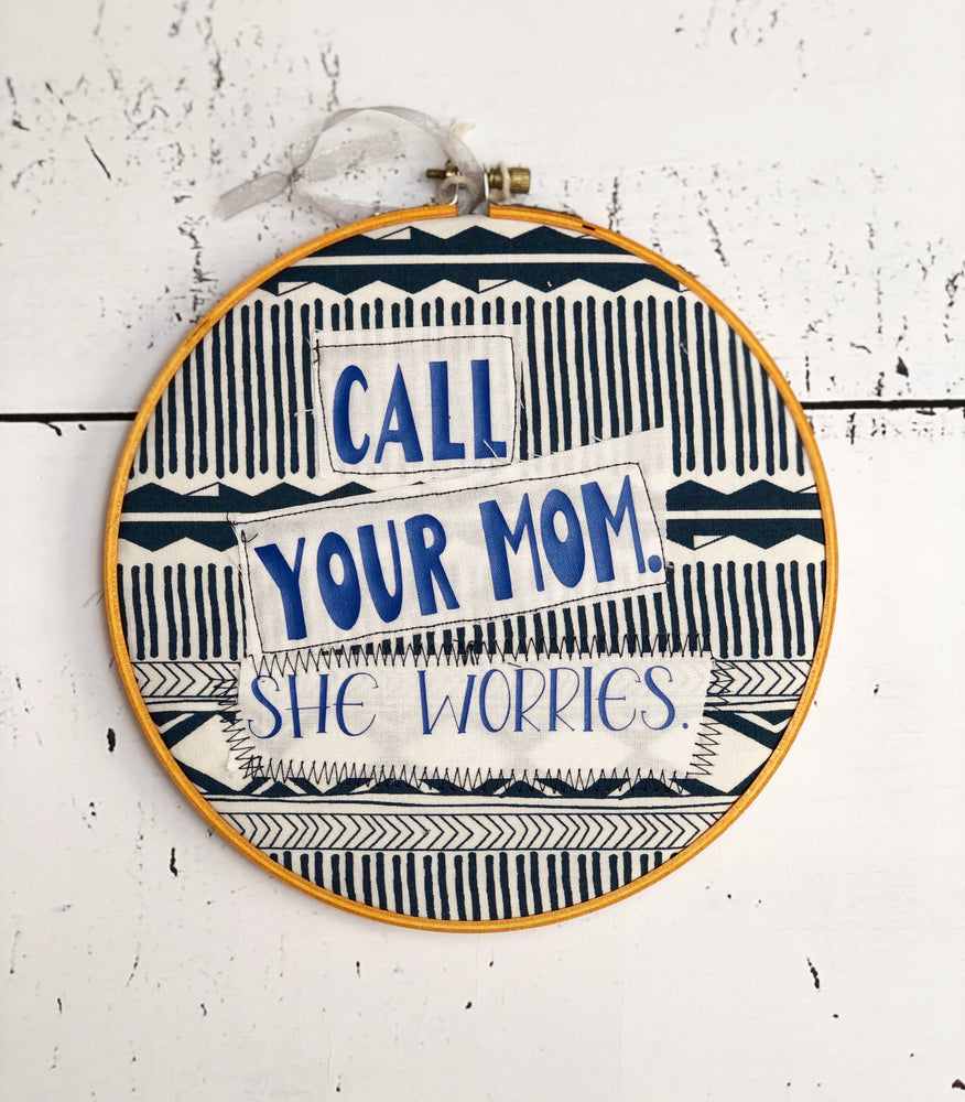 call your mom hoop art