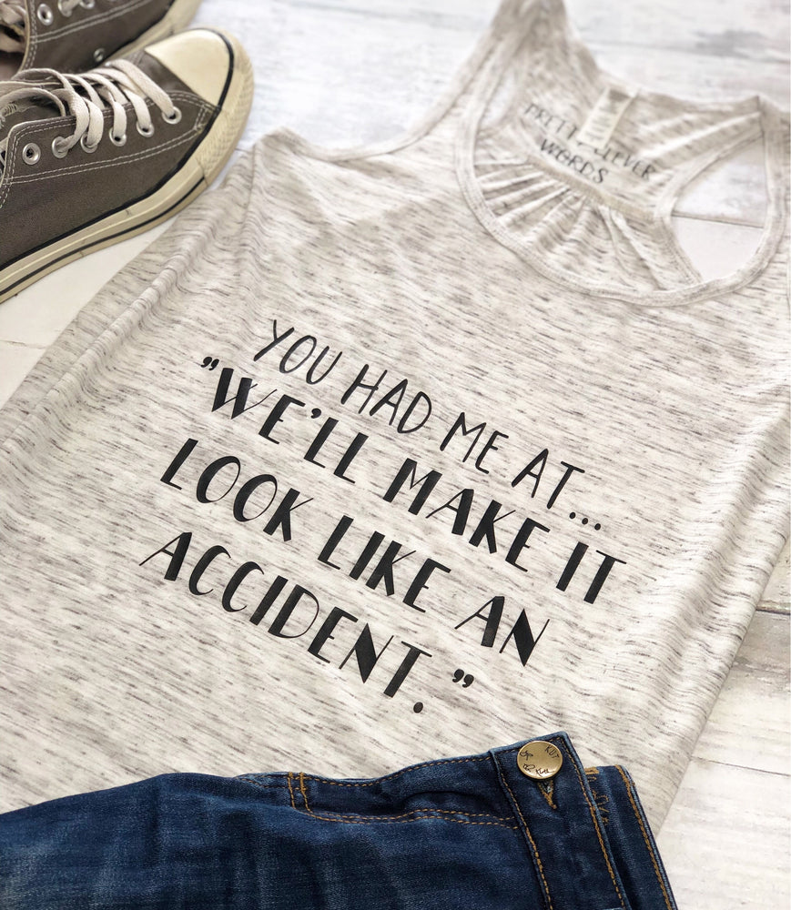 look like an accident - women's tank tshirt