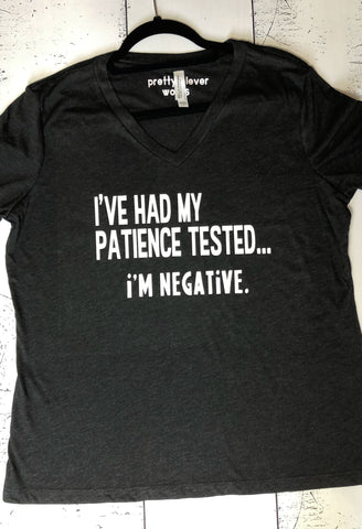 i've had my patience tested - tank and shirt