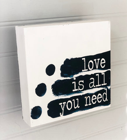 love is all you need - wood panel art