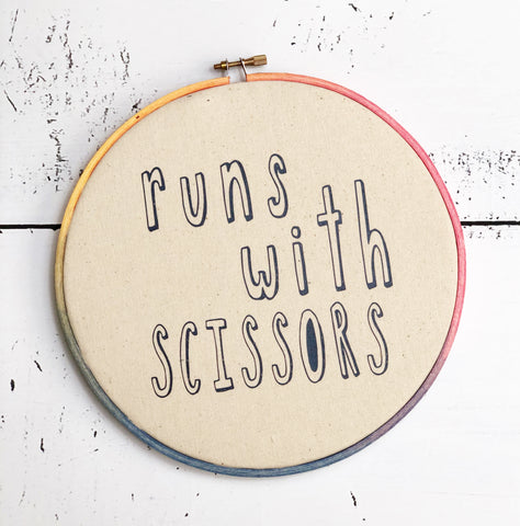 runs with scissors hoop art