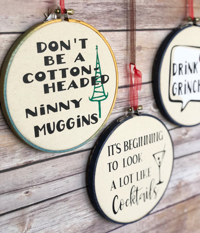holiday pun hoop art