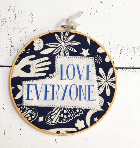 love everyone hoop art