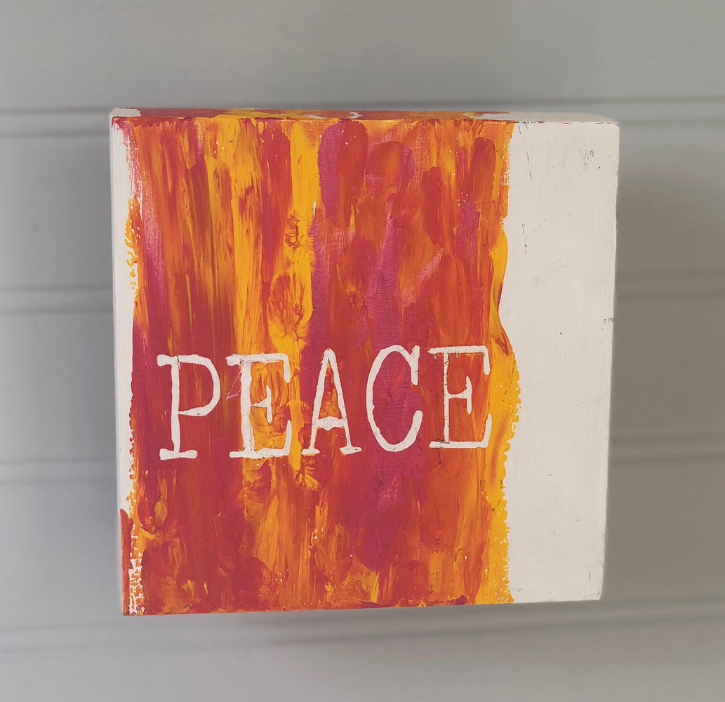 peace - wood panel art