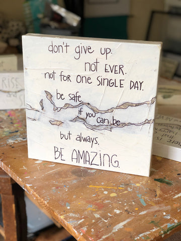 be amazing canvas word art
