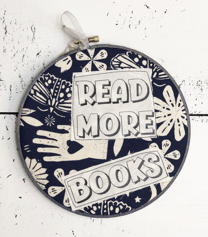 read more books hoop art