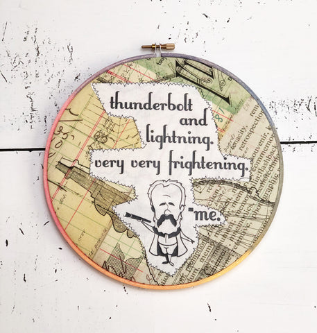 thunderbolt and lightning hoop art