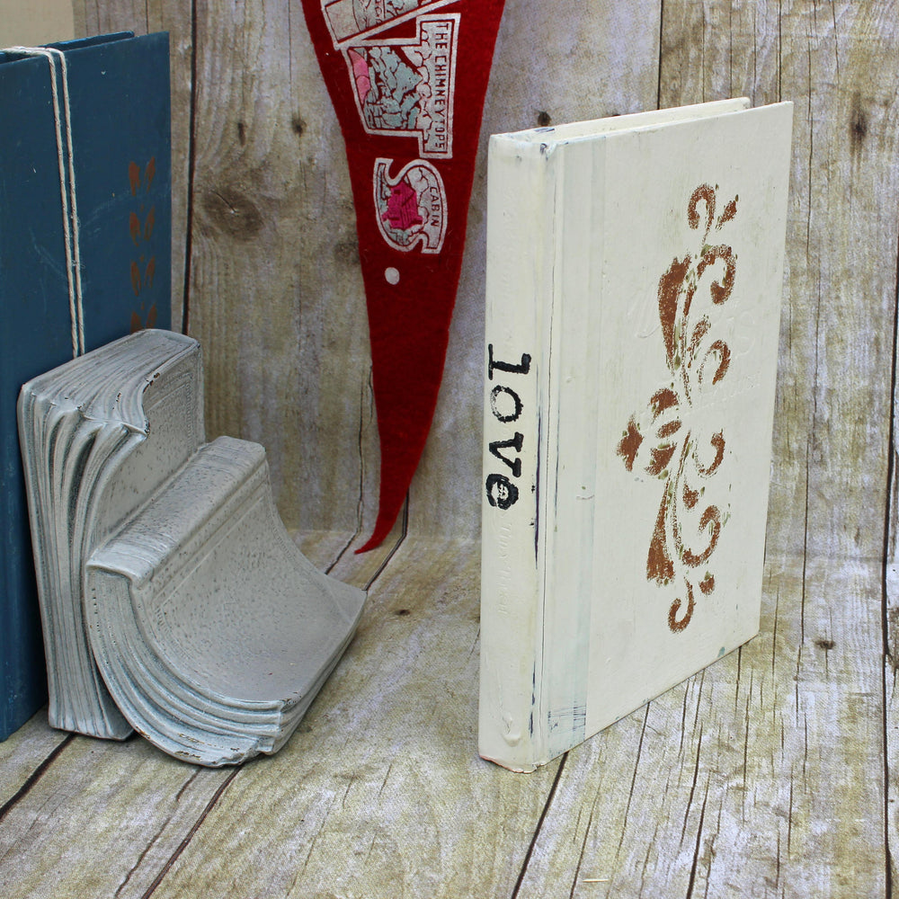 love repurposed book art