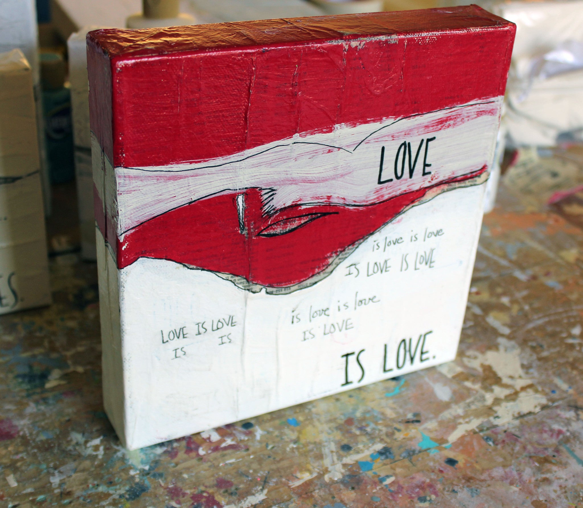 love is... canvas word art