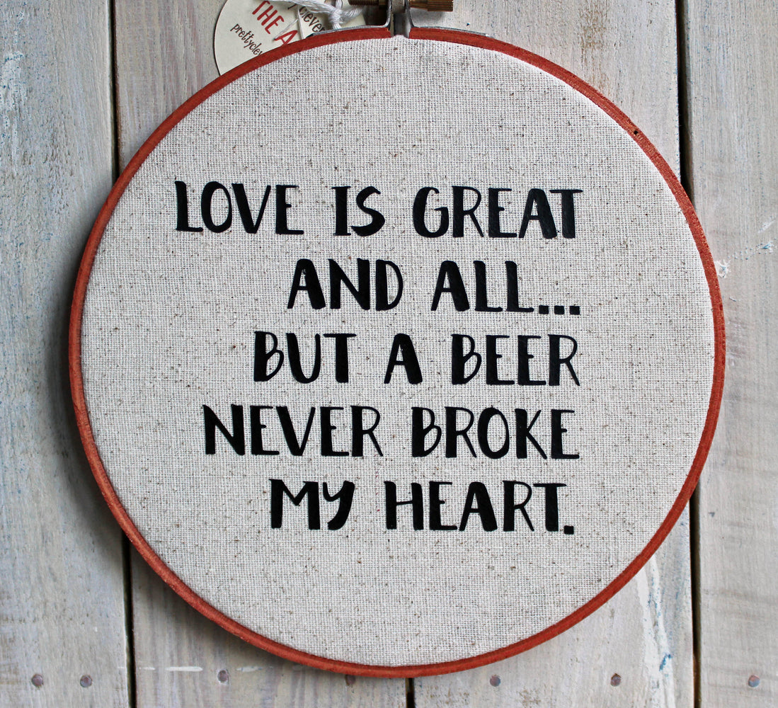 love is great and all hoop art