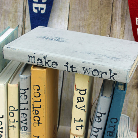 make it work repurposed book art