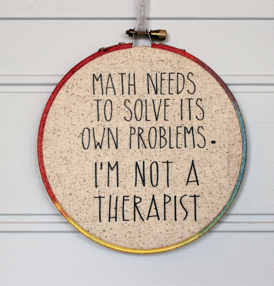 math problems hoop art - Pretty Clever Words