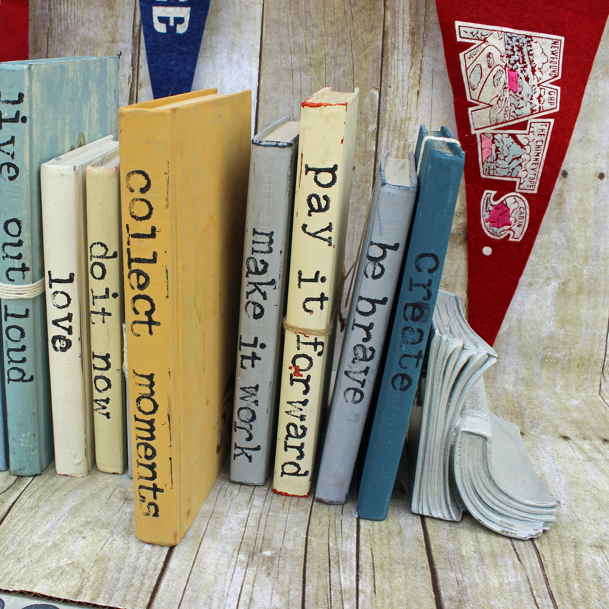 collect moments repurposed book art