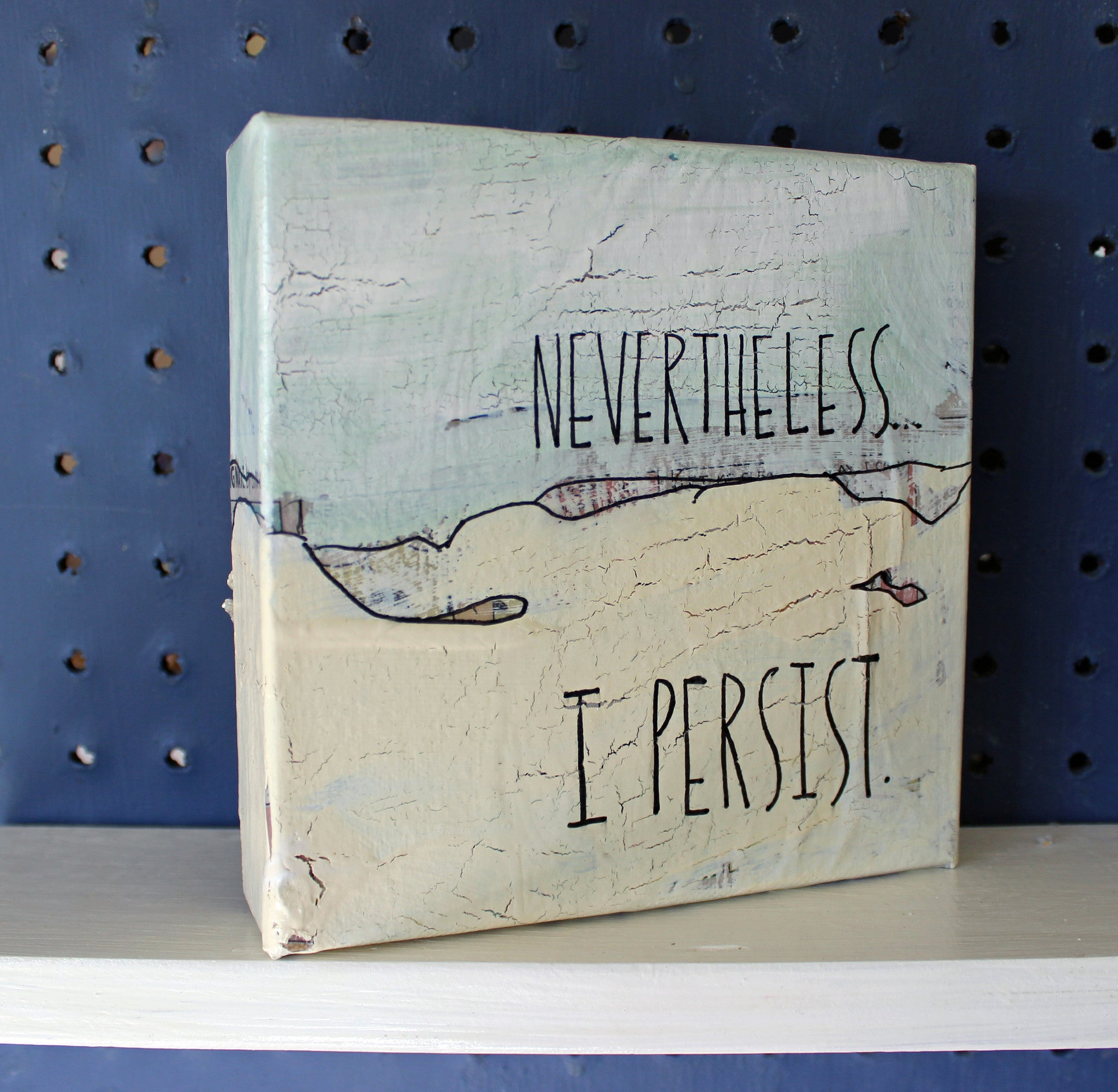 nevertheless...i persist canvas word art