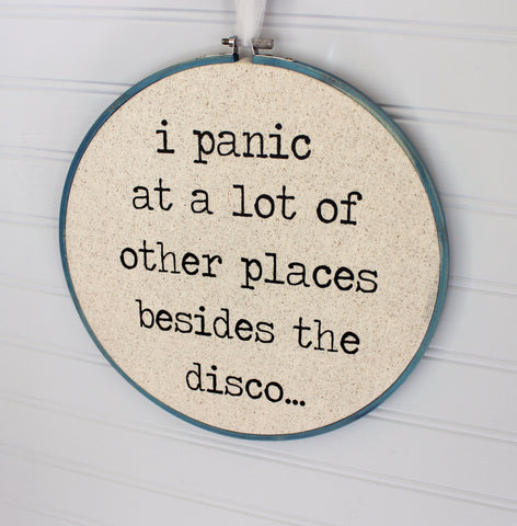 disco panic hoop art