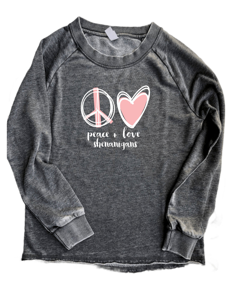 peace, love and shenanigans - women's sweatshirt