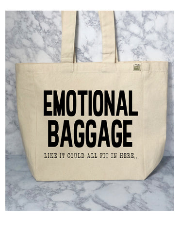 emotional baggage - tote bag