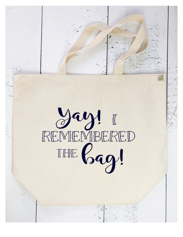 yay, i remembered the bag - tote bags