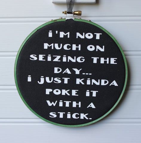 poke the day hoop art