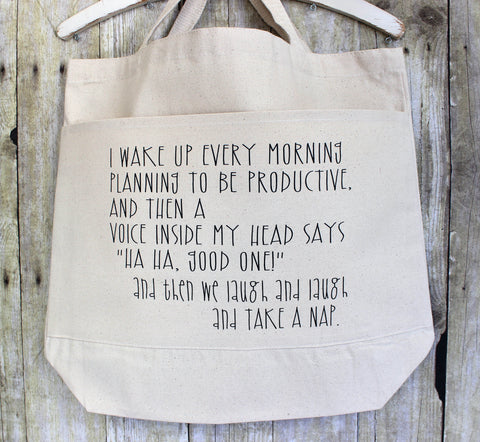 productive voices in my head - tote bag - Pretty Clever Words