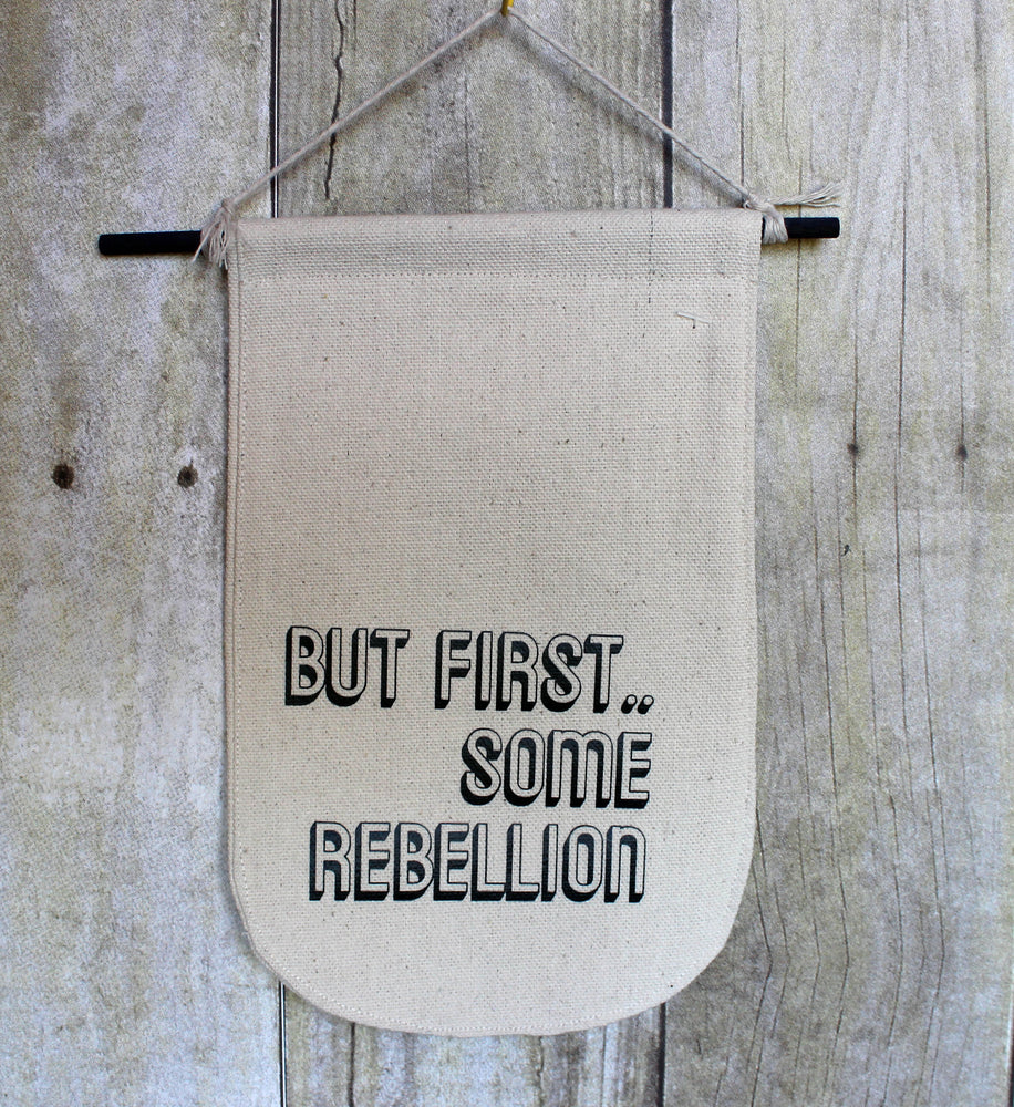 rebellion - canvas banner