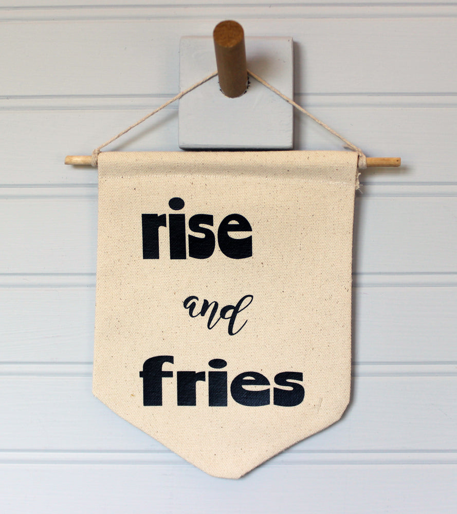 rise and fries - canvas word art banner