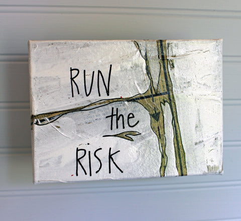 run the risk canvas word art