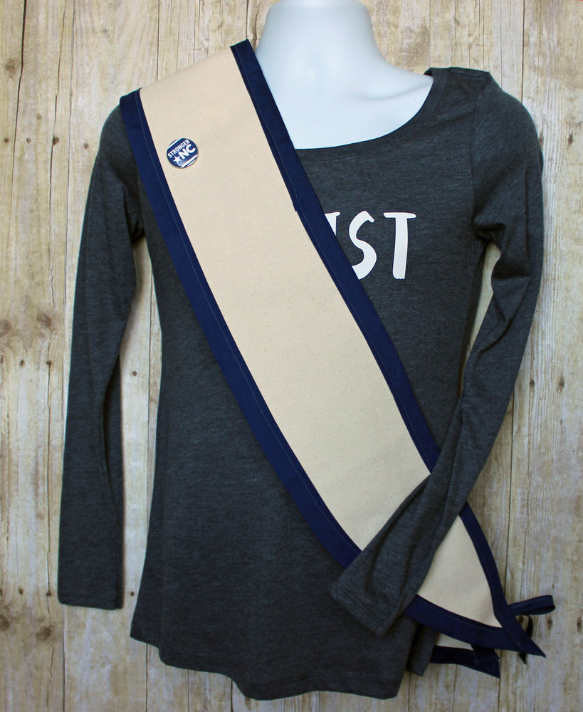 wearable canvas banner sash