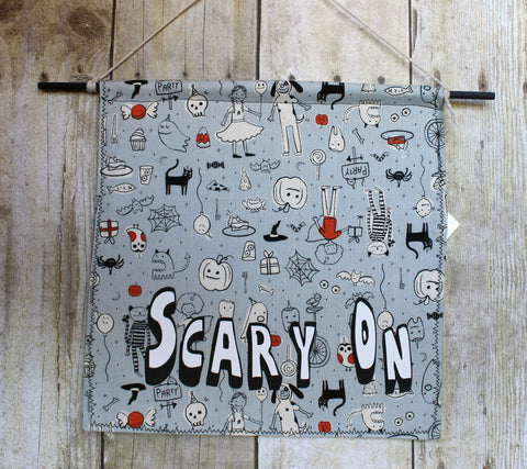 scary on - canvas banner