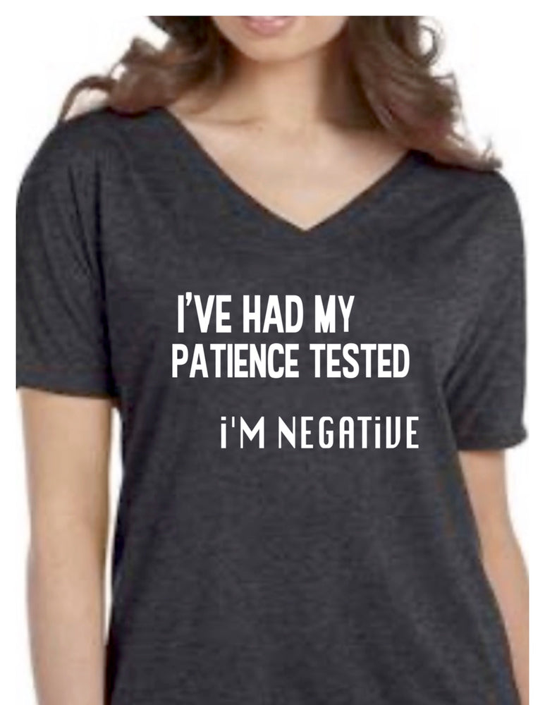 i've had my patience tested - shirt sample