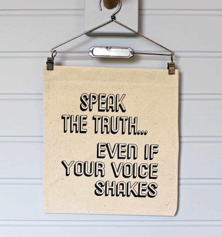 speak the truth - canvas word art banner