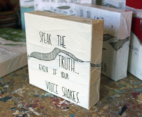 speak the truth canvas word art