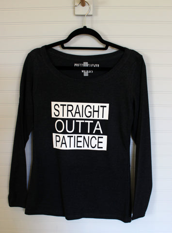 straight outta patience - tank and shirt