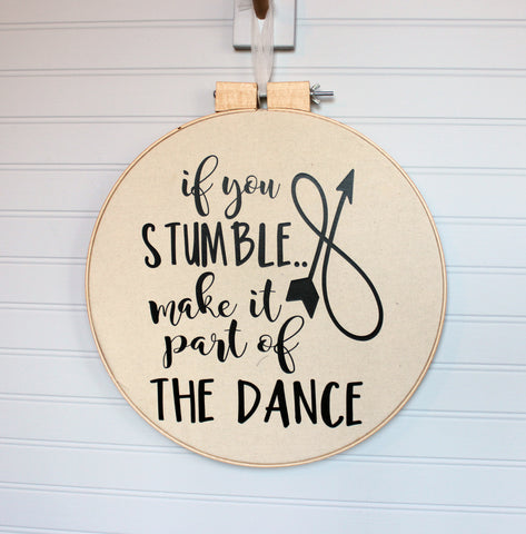 stumble dance large hoop art