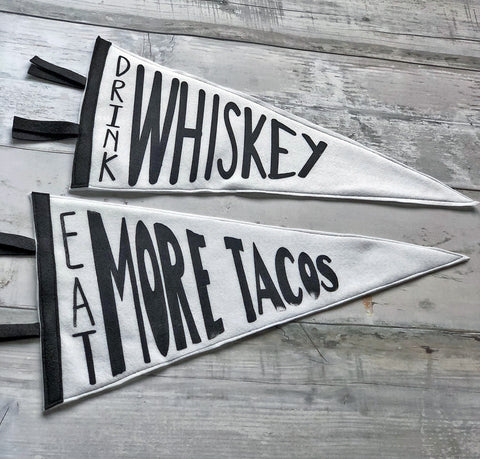 eat more tacos - pennant art