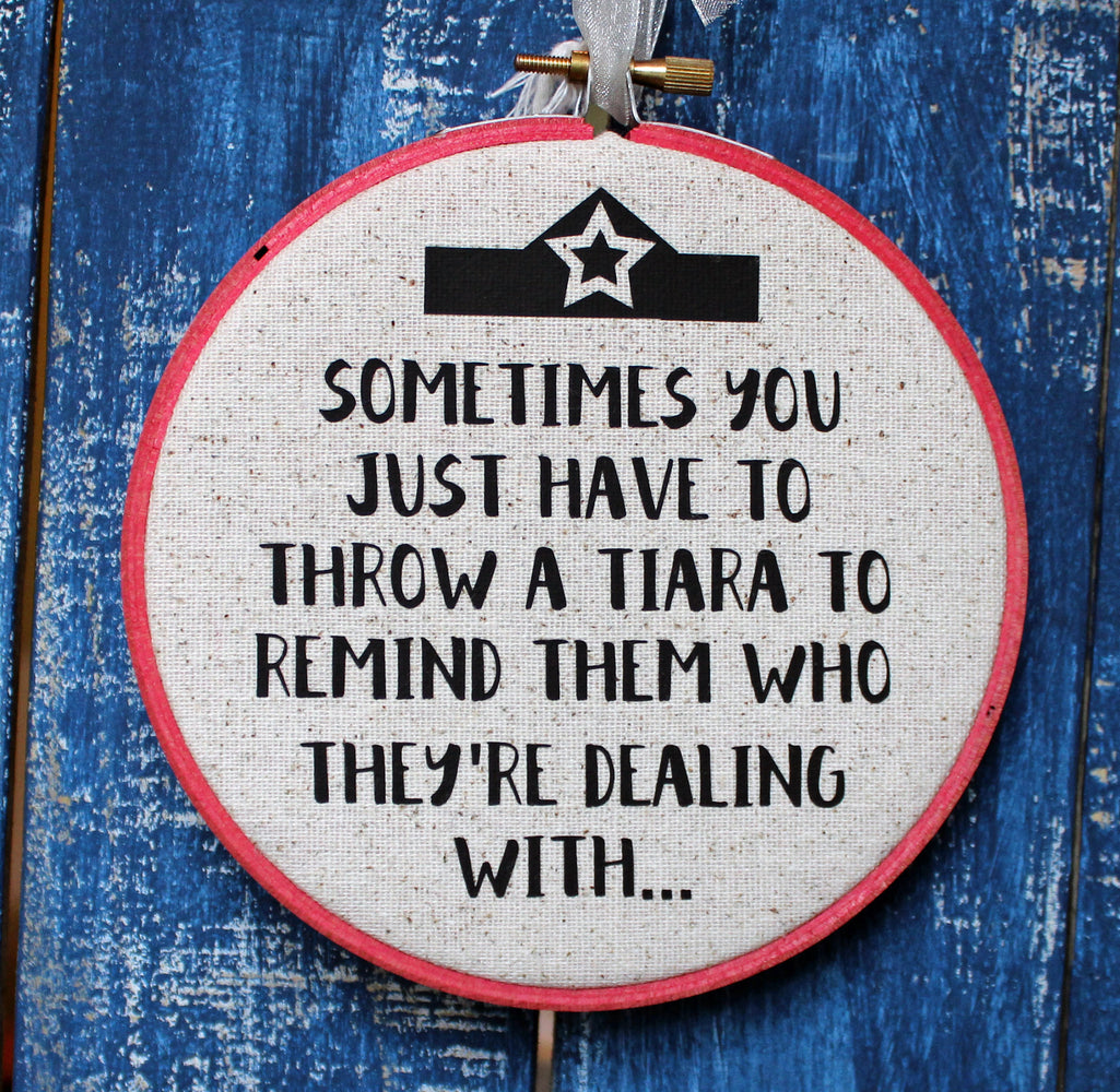 throw a tiara hoop art