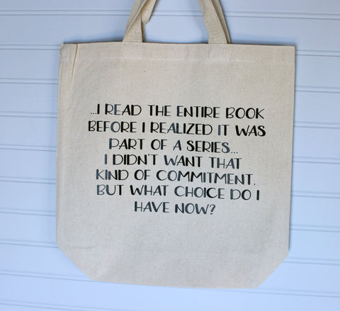 book commitment - tote bag