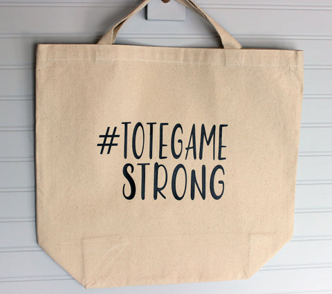tote game strong - tote bag
