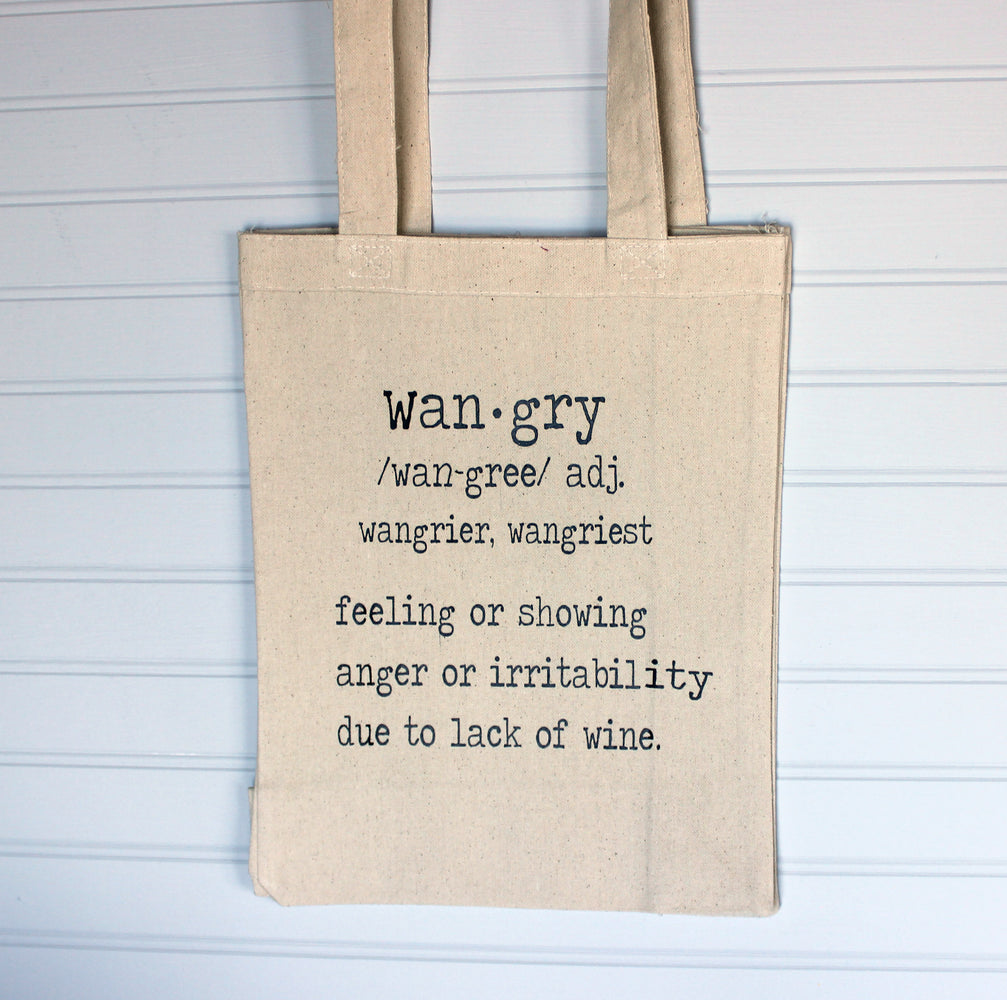 wangry wine - tote bag