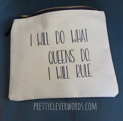 queens rule - zip money bag