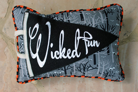 vintage style pennant pillow - Wicked Fun!