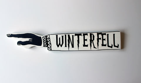 Thrones Collection - wooden pointy finger signs - Pretty Clever Words