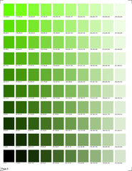 KM Designs RGB Color Chart