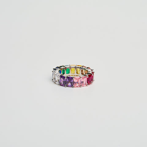 Baguette Ring w/ Multi-Colored Stones
