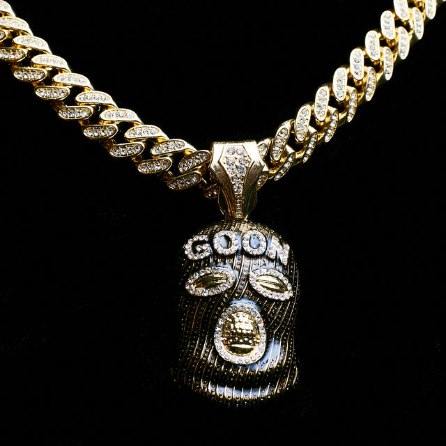 14k Iced Out Goon Pendant On 20 Inch Miami Cuban