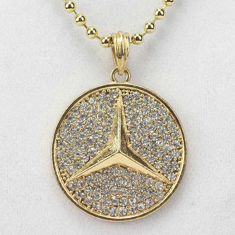 Mercedes Benz Pendant On Ball Chain
