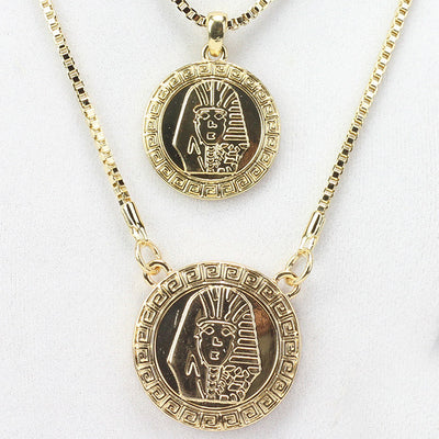 2 Chain Set: Big Circle Pharaoh And Lil Circle Pharaoh On 24 And 30 Inch Box Chain