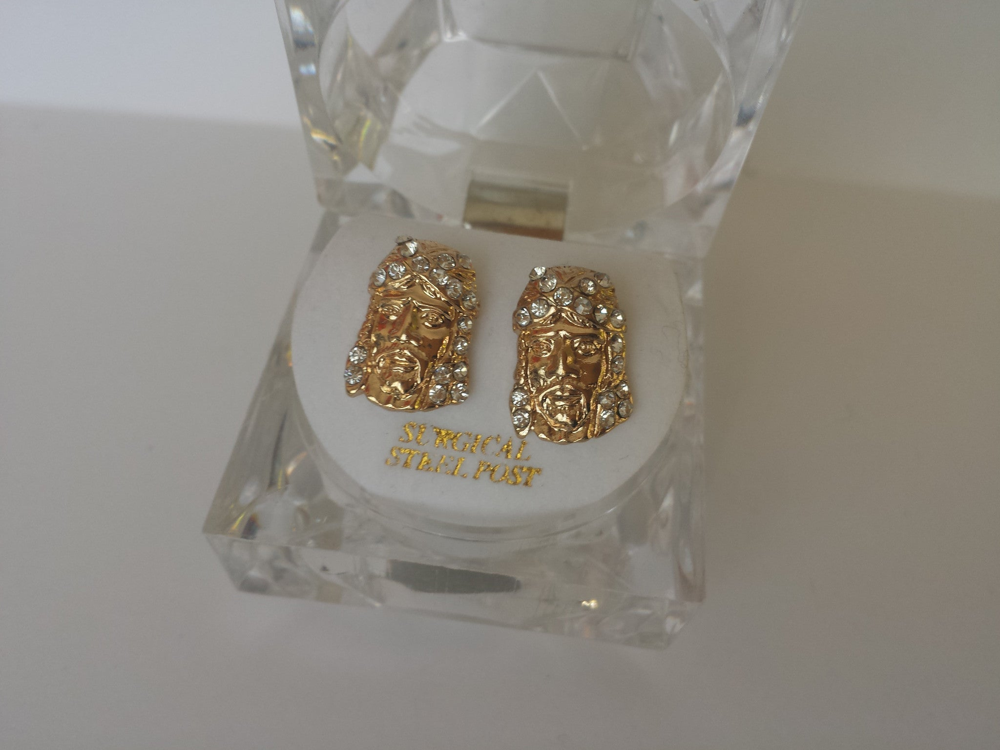 Mini Iced Out Kriss Kross Jesus Earrings