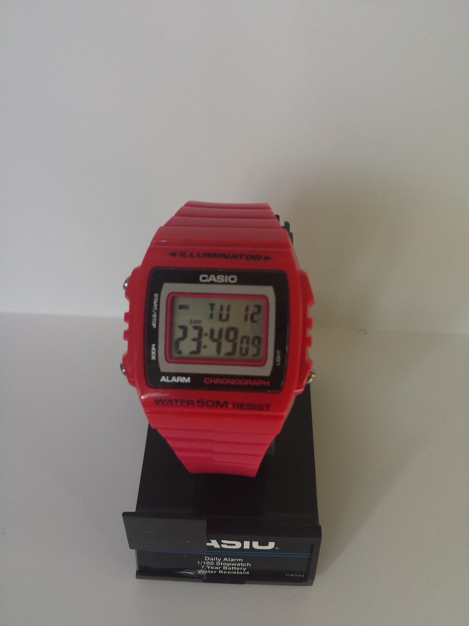 Hot Pink Chronograph Alarm Casio Watch